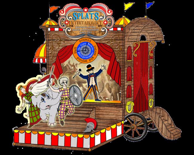 Splats Circus Caravan Roman Splatacus and Celtic Circus