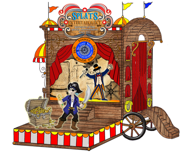 Splats Circus Caravan Treasure Island