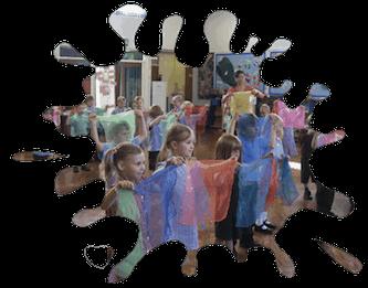 Circus-skills-scarf-juggling-class