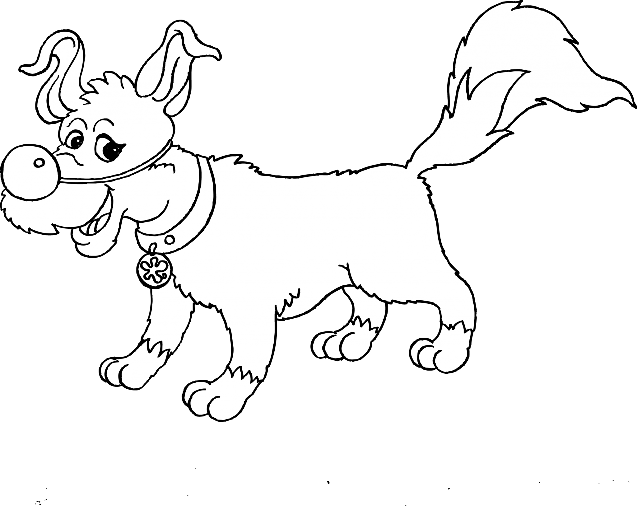 Circus dog circus skills to colour in